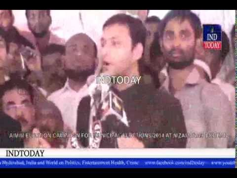 AIMIM Akbaruddin Owaisi Latest Speech At Nizamabad, Bodhan Municipal Elections 2014