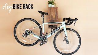 DIY Bike Rack With Storage