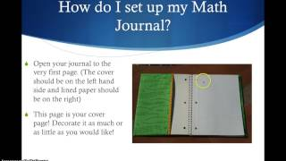 Math Journal Instuctions
