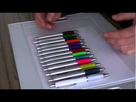 Günstiger Werbe-Kugelschreiber mit großer Farbauswahl