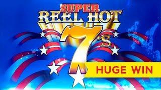 HUGE WIN! Super Reel Hot 7s Slot   RETRO AWESOMENESS!