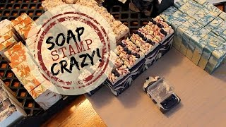 Stamping And Packaging Lots Of Handmade Soap