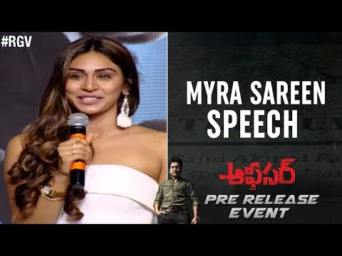 Myra Sareen Speech | Officer Pre Release Event | Nagarjuna | RGV  | Ram Gopal Varma | #Officer