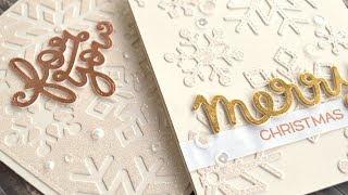 How to make elegant Christmas cards