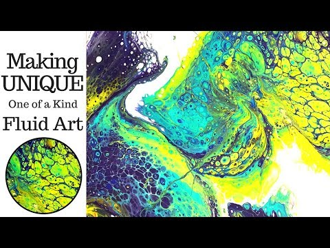 Making UNIQUE One Of A Kind Fluid Art With Acrylic Pouring Dirty Slide