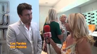 Presentacion de Perfumes EMESHEL en el Corte Ingles entrevista de Helena Olaya a Ian Proetta