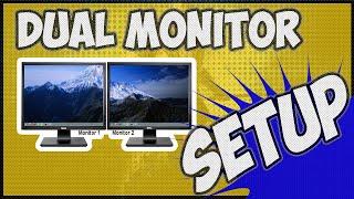 How to setup dual monitors windows 10