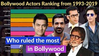 Top 10 Bollywood Actor 1993-2019   Real Bollywood King #srk #Salman