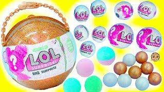 LOL Surprise Giant Ball - Big & Lil Sisters Baby Dolls 50 Surprises Blind Bags + Bath Fizz Charms