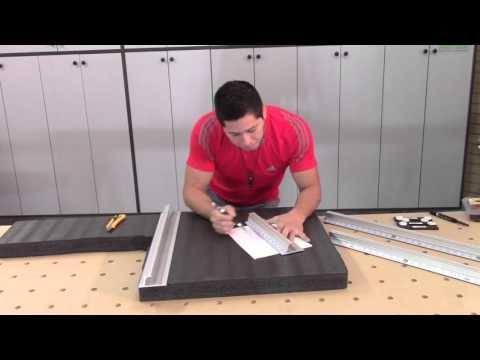 Regla de corte seguro, conector y mouse para cortar