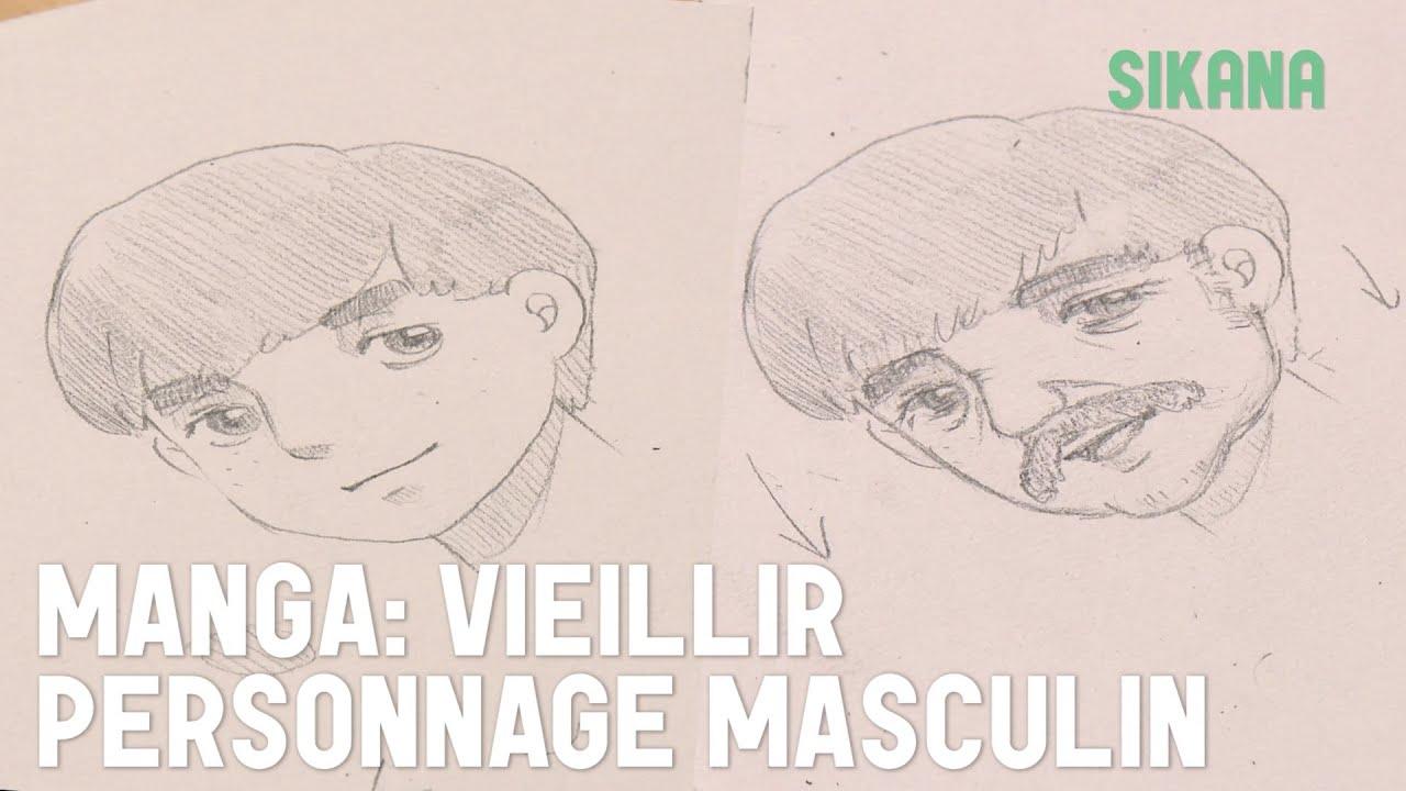 Manga vieillir un personnage masculin apprendre dessiner sikana - Dessiner personnage manga ...