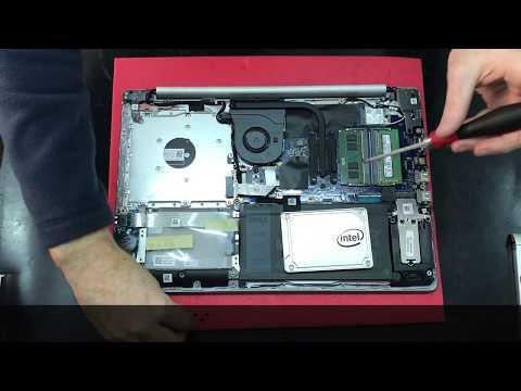 Dell Inspiron 5570 Disassembly / SSD Upgrade ESPAÑOL - смотреть