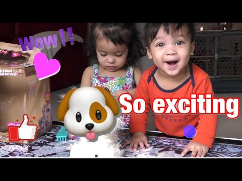 CUTEST REACTION EVER|Szanna gets a puppy toy Rescue Runts