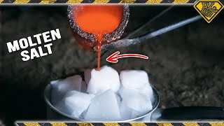 Mixing Dry Ice with Molten Salt - Video Youtube