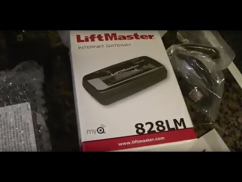 Liftmaster MyQ lnternet Gateway 828LM Review and Installation