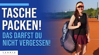 Wie packe ich meine Tennistasche | Was ihr für euer Match oder Training braucht | Tennis Mastery