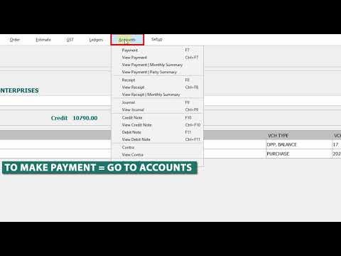 Payment Entry in PEASx Software | Pay to Supplier/Vendor in PEASx By Cash | GST Billing Software