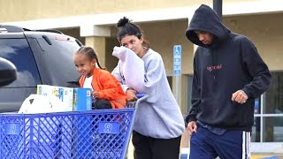Kylie And Tyga Take King Cairo On Shopping Spree Asked About Arrest Of Kims Robbers