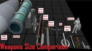 Weapons Size Comparison