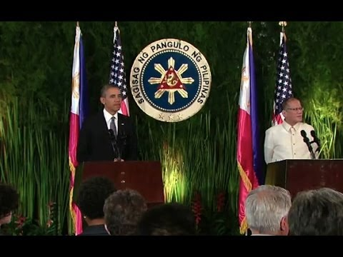 President Obama Holds a Press Conference with President Aquino of the Philippines