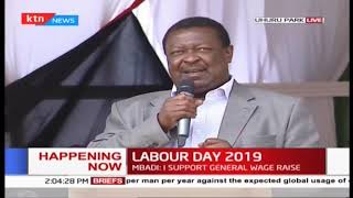 Hon Musalia Mudavadi's speech during 2019 Labour Day Celebration