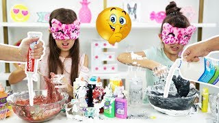 Our Parents CHEATED!!! Blindfolded Slime Challenge!