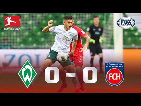 TUDO IGUAL NA BRIGA PELA PRIMEIRA DIVISÃO! Lances de Werder Bremen 0 x 0 Heindenheim na Bundesliga