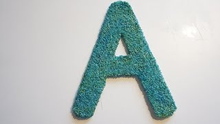 Decorating Letters Ideas|Home Made Vlogs|Easy Cardboard Crafts