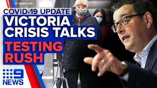 coronavirus states hold national security briefing covid 19 testing rush in qld 9 news australia