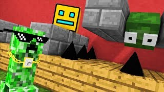 Monster School : GEOMETRY DASH CHALLENGE - Minecraft Animation