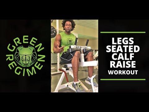 Legs - Seated Calf Raise - Green Regimen