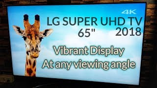 2018 LG SUPER UHD TV   Nano Cell Display   True Colors at ALL Angles