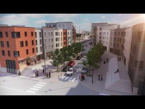 Renouvellement du quartier des Bassins à Cherbourg - Vidéo Arka Studio