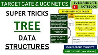 9 PM | Super TRICKS For Tree Data Structures - GATE &  UGC NET CS