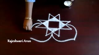 simple kolam designs with dots for beginners || easy rangoli art || muggulu designs with dots