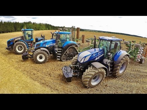 AGROTEC DEMO TOUR 2016 3x TRACTOR NEW HOLLAND - 1.205 HP AMAZONE