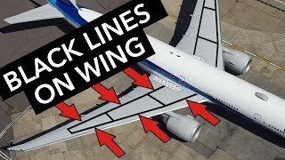 Boeing Facts - Black lines on the wings