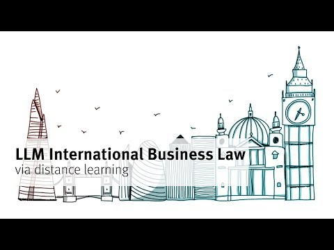 LLM International Business Law via distance learning at City University London