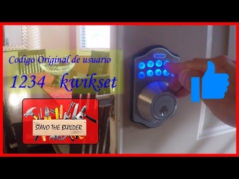 Como Instalar Una Cerradura Electronica Con Codigos kwikset - Electronic  Door Lock installation