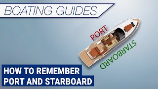 How to remember port and starboard