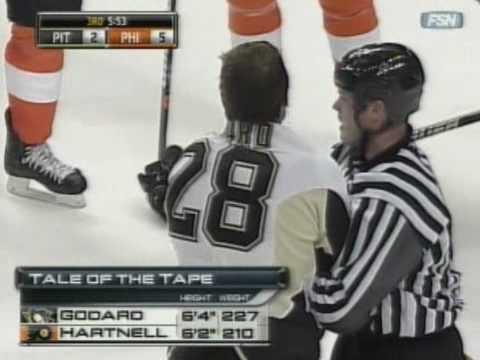 Scott Hartnell vs. Eric Godard