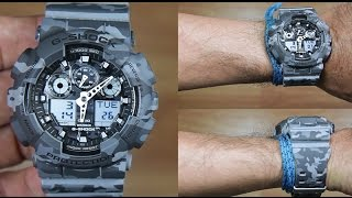 CASIO G-SHOCK GA-100CM-8A CAMOUFLAGE EDITION - UNBOXING