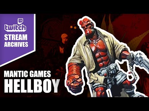 Painting Exclusive Hellboy Miniature from Mantic Games // Stream Archives
