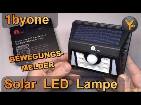 Review: 1byone Outdoor Solar LED Lampe mit Bewegungsmelder / Wasserdicht & Superhelle LEDs