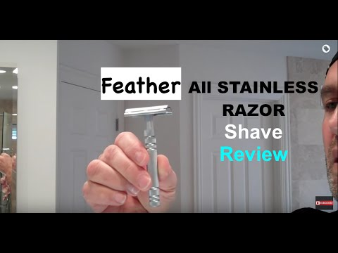 Feather All-Stainless Safety Razor Shave and Review