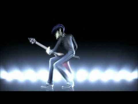 Gorillaz - Clint Eastwood (Live) (3D Holograms - Noodle/Murdoc Visual)