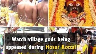 Watch Village Gods Being Appeased During Hosur Kottai Mariamman Festival - ANI News