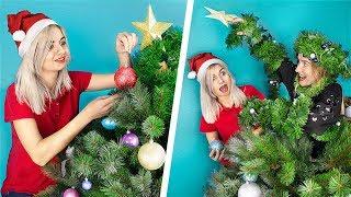 13 Christmas Sibling Pranks And Hacks! Sister VS Sister!
