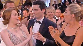 Emma Stones Awkward Hug Fail With Damien Chazelle At Golden Globes