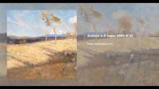 Andante in D major, MWV W 32